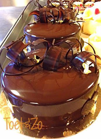 Chocolade mokka taart