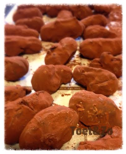 Witte chocolade truffels